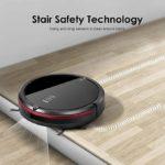 DEIK Robotic Vacuum Cleaner with Schedule Cleaning Self-Charging Anti-Drop & Anti-Collision Hard Floor & Thin Carpet